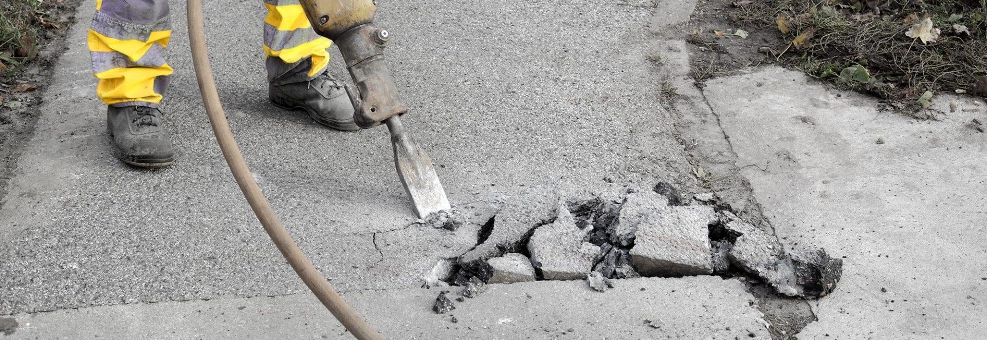 pigging av betong